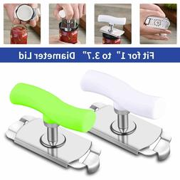 1/2Pcs Can Opener Jar Bottle Adjustable Manual Stainless Ste