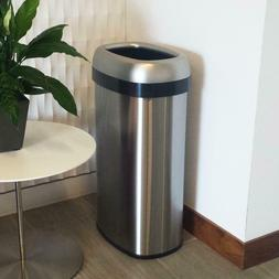 16 Gal. Oval Open Top Commercial Grade Stainless Steel Trash