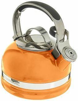 KitchenAid 2-Qt Steel Handle Band Tea Kettle Whistle KTEN20S