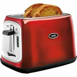 Oster 2-Slice Toaster Oven Metallic Red Color Best Breakfast