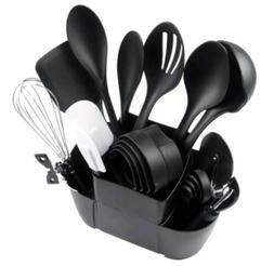 21-Piece Kitchen Utensils Set With Caddy Organizer Whisk Spa