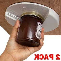 2x Jar Opener for Weak Hands Under Cabinet Lid Openers Senio