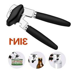 Black Hand Crank Can Opener Large Commercial Steel Manual Heavy Duty Restaurant