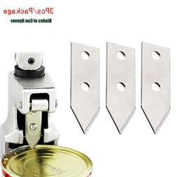 3 Pieces Steel Blade <font><b>Can</b></font> <font><b>Opener