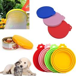 3Pc of Pet Food Can Cover Silicone Reusable Cap Can Lids for