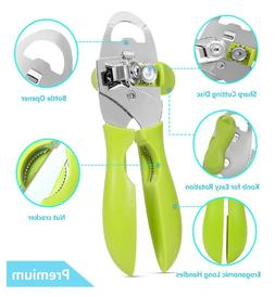 4 IN1 Can Opener Manual Smooth Edge Stainless Steel Heavy Du