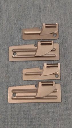 4 MILITARY CAN OPENERS - U.S. SHELBY COMPANY - 2 EA. P38 & 2