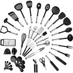 42 Pc Stainless Steel Cooking Utensils Basting Brush Meat Fo