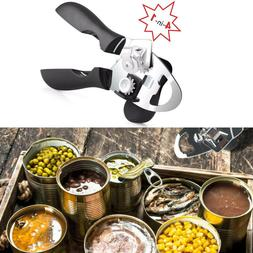 4IN1 Ergonomic Can Opener Manual Smooth Edge Stainless Steel