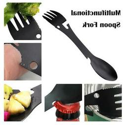 5 in 1 Spoon Fork Can Opener Multifunction Outdoor Camping C