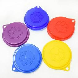 5 x New Pet Food Can Cover Lid Dog Cat Tin Plastic Reusable