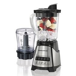 Hamilton Beach 58149 Black Blender/ Food Chopper Mess-free s