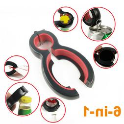 6 in 1 Multi Function Can Opener Bottle Openers Stainless St