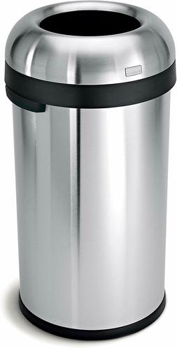 Bullet Open Top Trash Can Stainless Steel Commercial Grade S