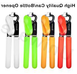 Stainless Steel Can/Bottle Opener Red/Orange/Green/White