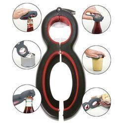 6in1 Can Opener Multi Purpose Screw Cap Jar Openers Bottle L