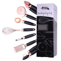 COOK With COLOR 7 Pc Kitchen Gadget Set Copper Coated Stainl
