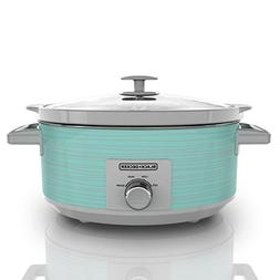 Black & Decker Slow Cooker, 7 Quart, Teal Wave
