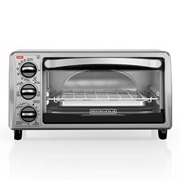 BLACK+DECKER TO1313SBD 4-Slice Toaster Oven,Bake Pan,, Stain