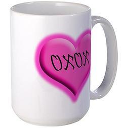 CafePress - XOXO Large Mug - Coffee Mug, Large 15 oz. White
