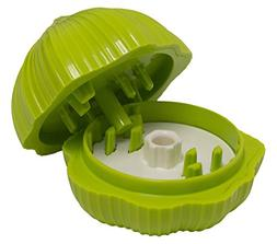 HIC The Garlic Chop Garlic Chopper, Lime Green