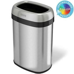 Itouchless - 13-gal. Dual-deodorizer Open-top Trash Can - St