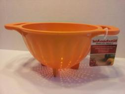 KitchenAid Tangerine Orange Soft Grip 3 Quart Colander