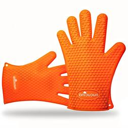 Nucucina Heat Resistant Silicone Cooking Gloves - Modern Pro