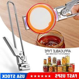 adjustable multifunctional stainless steel can opener jar
