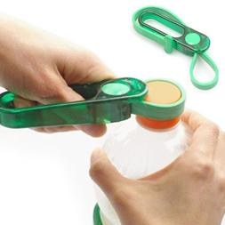 Adjustable Rubber Strap Jar Bottle Can Opener Wrench Multipu