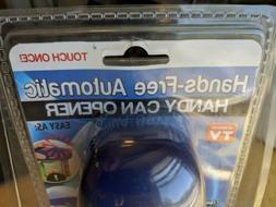As Seen On TV Hands Free Automatic Handy Can Opener Blue New