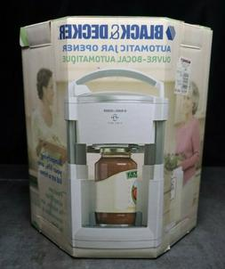 Black & Decker LIDS OFF Automatic Jar Opener JW200 Brand New