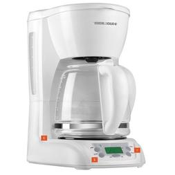 BLACK & DECKER-WHITE-COFFEEMAKER--12 CUP-- PROGRAMMABLE--NEW