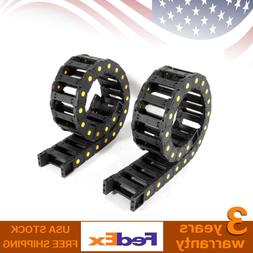black can open cover 2pcs drag chain
