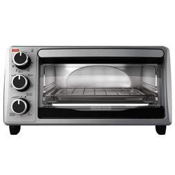 BLACK+DECKER 4-Slice Toaster Oven Stainless Steel