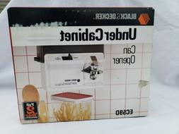 Black & Decker Space Saver Under Cabinet Electric Can Opener