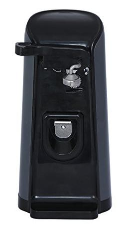 Black Extra Tall Electric Can Opener Powerful Pierce Automat