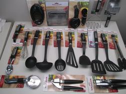 black kitchen utensils each sold separately