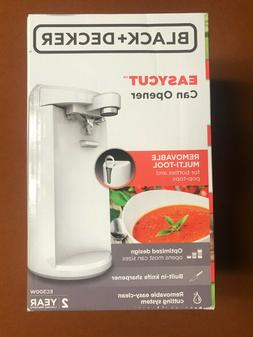 Black + Decker Easy Cut Electric Can Opener - white - w / sh