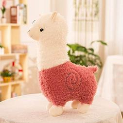 Blessing Gift Glass Cover,Kawaii Alpaca Stuffed Plush Soft P