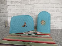 Blue Teal Small Kitchen Appliance Covers Toaster and Can Ope