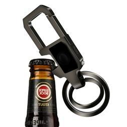 Bottle Opener  Key Chain with LED Light 2 Zinc Alloy Key Rin