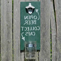Cap Catching Bottle Opener - Green Chalkboard - Cranberry Co