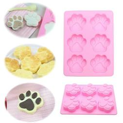 Cat Paw Print Silicone Cookie Cake Candy Chocolate Mold Soap