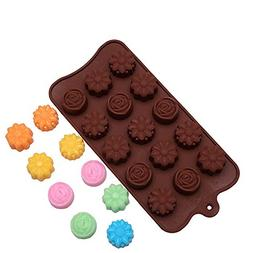 Cavity Silicone Flower Rose Chocolate Cake Soap Mold Baking