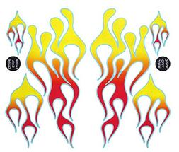 Classic Mix Flame Decal Kit red, orange, and yellow with blu