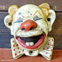 Clown Cast Iron Bottle Opener, Wall Mounted Antique Finish,