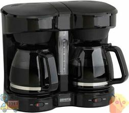 New Kitchen Selectives CM-302BL Dual Carafe 12-Cup Drip Coff