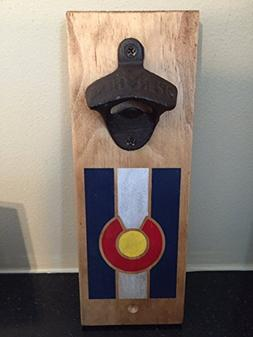 Colorado Flag - Magnetic Cap Catcher Bottle Opener - Vertica