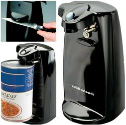 Durable Power Can Opener with Built In Knife Sharpener Black
